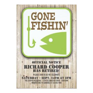 Gone Fishin' Retirement Party Invitation
