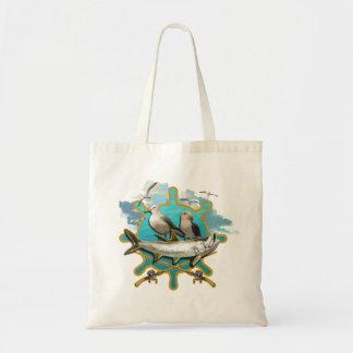 Gone Fishin Seagulls Tote Bag