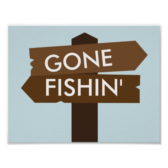 Gone Fishin' Themed Sign