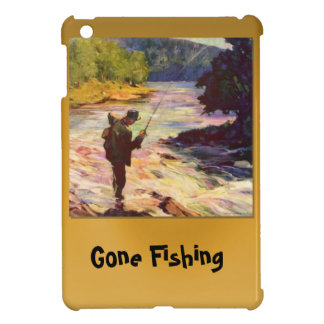 Gone fishing, At the bend in the river iPad Mini Cover
