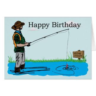Happy birthday fisherman cards invitations for Fishing birthday wishes