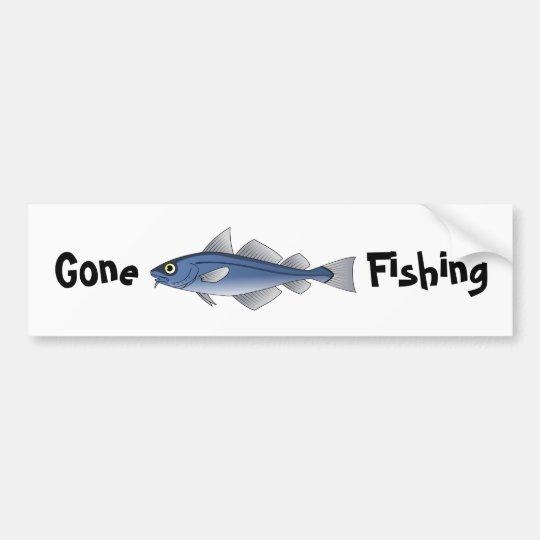 Gone Fishing Bumper Sticker