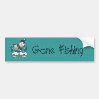 Gone Fishing Bumper Sticker Car Bumper Sticker