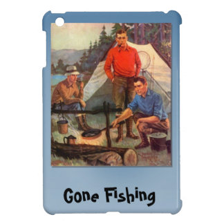 Gone fishing, Camp by the river Case For The iPad Mini
