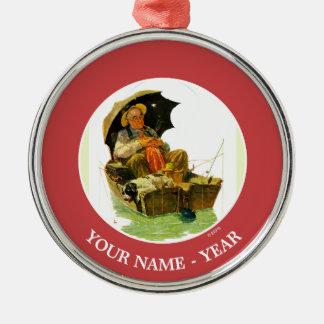 Gone Fishing Christmas Ornament