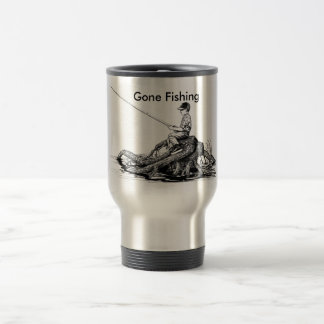 Gone Fishing Coffee Cup Stainless Steel Travel Mug