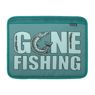 """GONE FISHING custom 13"""" MacBook sleeve"""