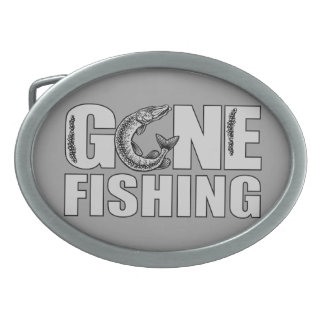 GONE FISHING custom belt buckle