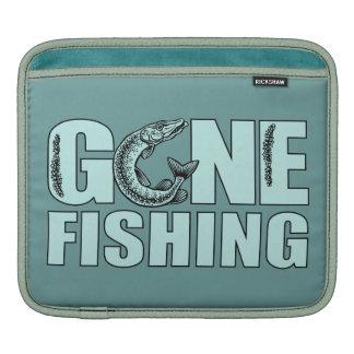 GONE FISHING custom iPad sleeve