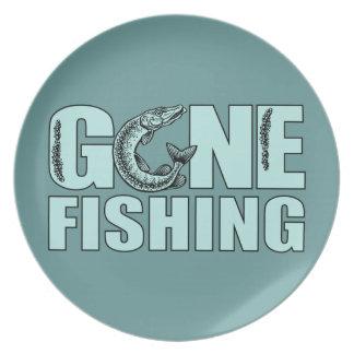 GONE FISHING custom plate