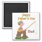 Gone Fishing Father's Day Magnet