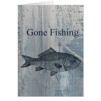 Gone Fishing Fish Greeting Card