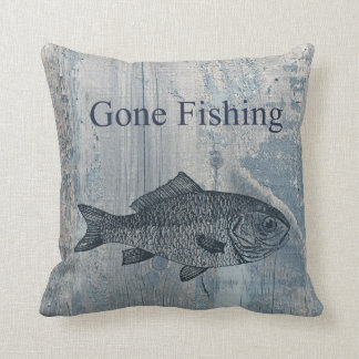 Gone Fishing Fish Cushion