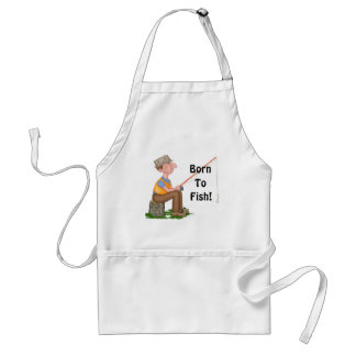 Gone Fishing Fisherman Standard Apron