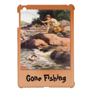 Gone fishing, Fishing from the rocks iPad Mini Covers