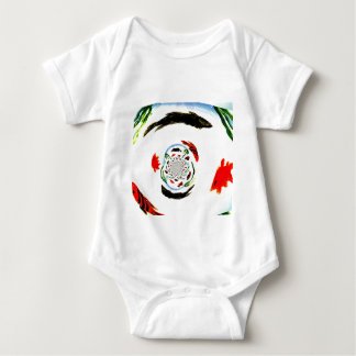 """Gone Fishing"" Fun Abstract Fish Baby Bodysuit"