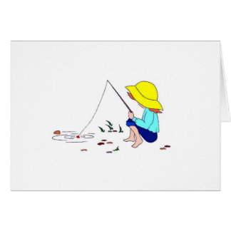 Gone Fishing Greeting Cards