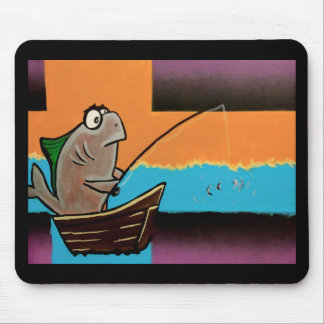 Gone Fishing Mouse Pads