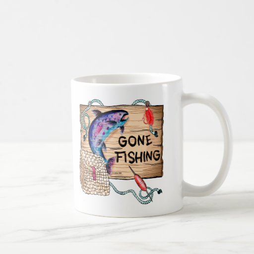 Gone Fishing Coffee Mugs