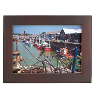 Gone Fishing Picturesque Whitstable Kent  UK Keepsake Box