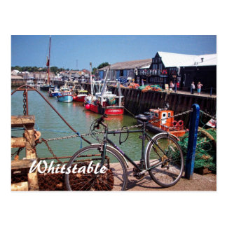 Gone Fishing Picturesque Whitstable Kent  UK Postcard