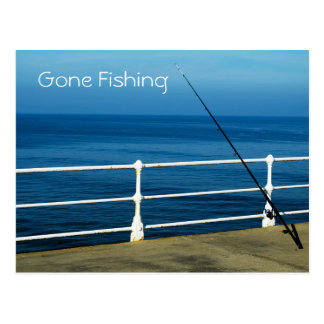 Gone Fishing Postcard