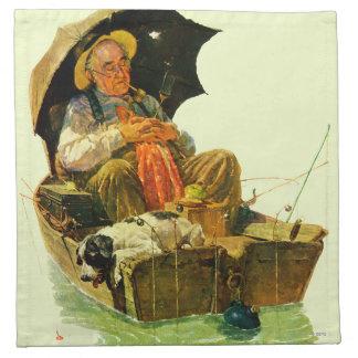Gone Fishing Printed Napkin