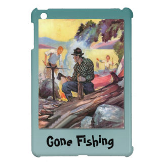 Gone fishing, Supper in the camp iPad Mini Cover