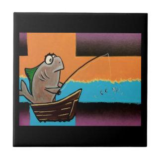 Gone Fishing Ceramic Tile