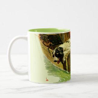 Gone Fishing Two-Tone Coffee Mug