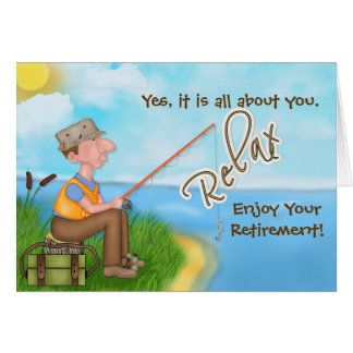 Gone Fishing - with Verse - Retirement Card