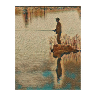 Gone Fishing Wood Canvases