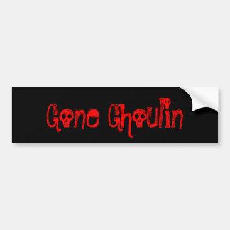 Gone Ghoulin Funny Halloween Design Bumper Sticker