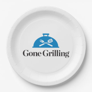 Gone Grilling Paper Plate