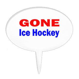 Gone Ice Hockey. Cake Topper