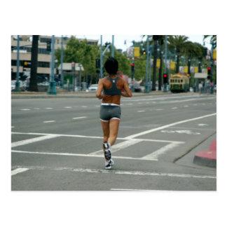 Gone Jogging Postcard