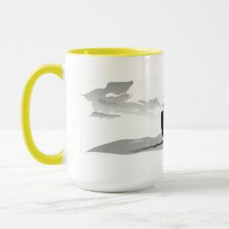 Gone Knots Kitesurfing - Large Coffee Mug Yellow
