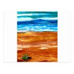Gone Looking for Seashells Beach Surf Art Postcard