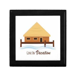Gone on Vacation Small Square Gift Box