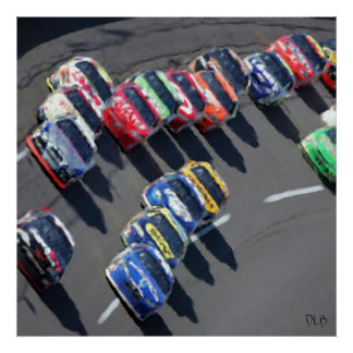 Gone Racing Prints Poster
