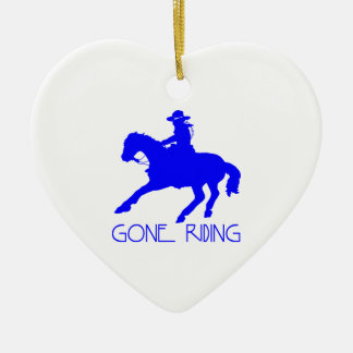 GONE RIDING CHRISTMAS ORNAMENT
