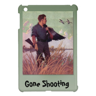 Gone Shooting, hunter and some birds iPad Mini Cover