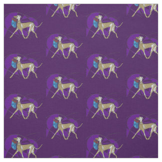 Gone Shopping, Art Deco Italian Greyhound Fabric