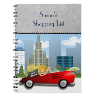Gone Shopping Illustrated Design Journal Notebook