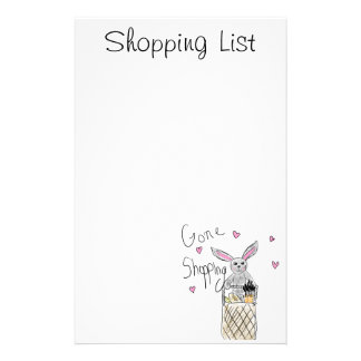 Gone Shopping Personalized Stationery