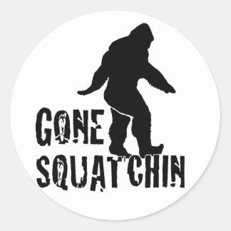 Gone Squatchin 2 Classic Round Sticker