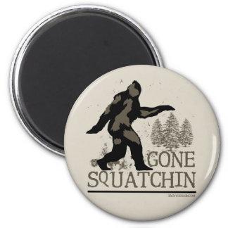 Gone Squatchin 6 Cm Round Magnet