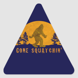 Gone Squatchin' Awesome Vintage Sunset Triangle Stickers