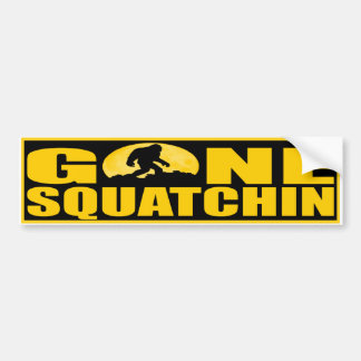 GONE SQUATCHIN BARK AT THE MOON - Finding Bigfoot Bumper Sticker