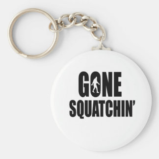 Gone Squatchin' Basic Round Button Key Ring